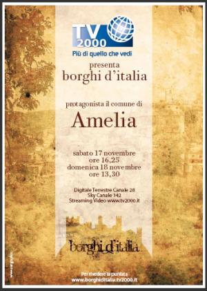Amelia - Borghi d'Italia - Ripresa televisiva